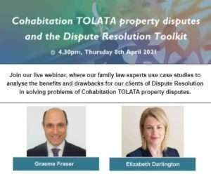 Cohabitation TOLATA property disputes and the Dispute Resolution Toolkit